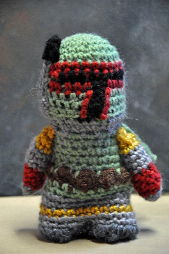 Amigurumi Free Pattern Dinosaur : Items similar to BOBA FETT AMIGURUMI Crochet Yarn Star ...