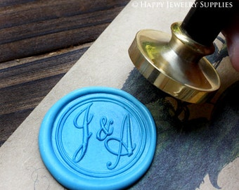 1pcs Custom Initial Gold Plated Wax Seal Stamp (WS042)