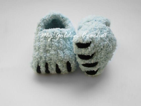 Free Crochet Pattern For Monster Slippers : Crochet Monster Slippers Pattern www.imgarcade.com ...