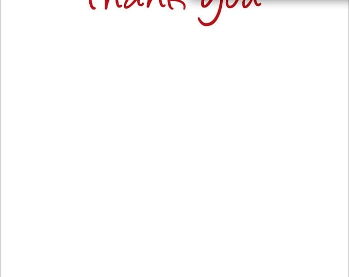 Red & Black Dalmatian | Thank You Stationery