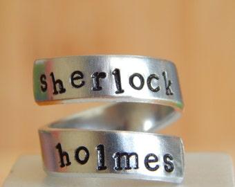 SHERLOCK HOLMES Inspired Wrap Ring Gift Under 20
