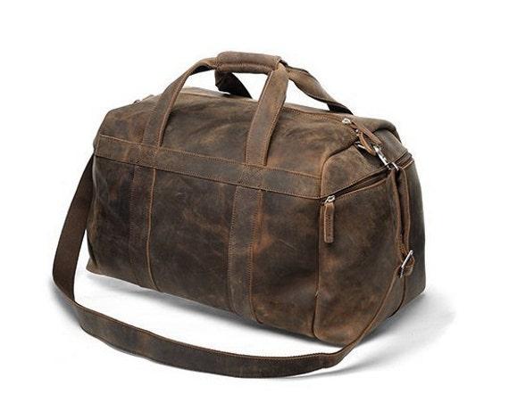 Handmade Buffalo Leather Gym Bag Sports Duffel