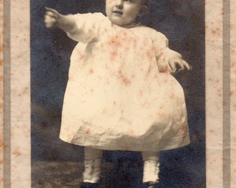 Antique Photo of Cute Pointing Baby