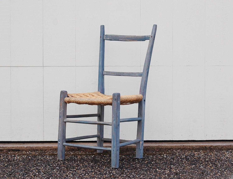Antique Primitive Ladderback Chair Farmhouse Accent Chair