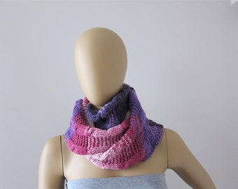 Cable Knit Scarf, Hand Knitted Long Scarf, Multicolor Cable Knit Scarf, CLEARANCE