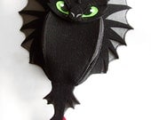 Backpack Toothless - SMALL for child - funny, cute black dragon - felt - wings - for fan - how to train your dragon - MADE to ORDER - CapallMara