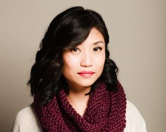 Cozy stretch knit circle scarf