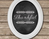 Thankful Fall Chalkboard sign | Thanksgiving Decor Sign | Digital File, Printable File, Instant Download - SimplyPutPrintables