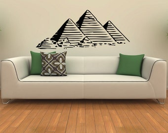 egyptian pyramids housewares wall vinyl decal art design murals interior modern decor sticker sv3798 - Wall Art Design Decals