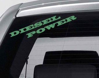 Diesel Decal Etsy - Vinyl decals for your car