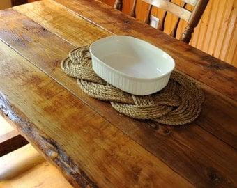 Nautical Decor - Manila  Rope - Trivet - Nautical Gift - Rope Trivet - Nautical Kitchen -