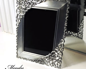 Black Scrying Mirror for Wicca, Divination, Gypsies, Fortune Telling, Travel Altar