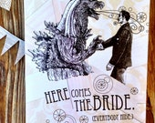 Bridezilla Card. Card for bride. wedding card for friend.