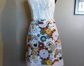 A-line Skirt- Colorful Floral Skirt (Size Medium)