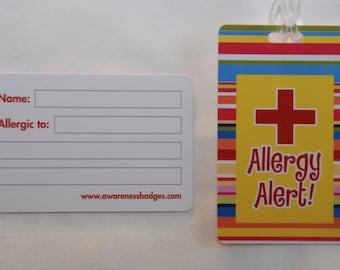Allergy Awareness Badges Lunchbox Tag