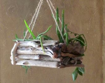 Driftwood Hanging Planter Single Edition Rectangular