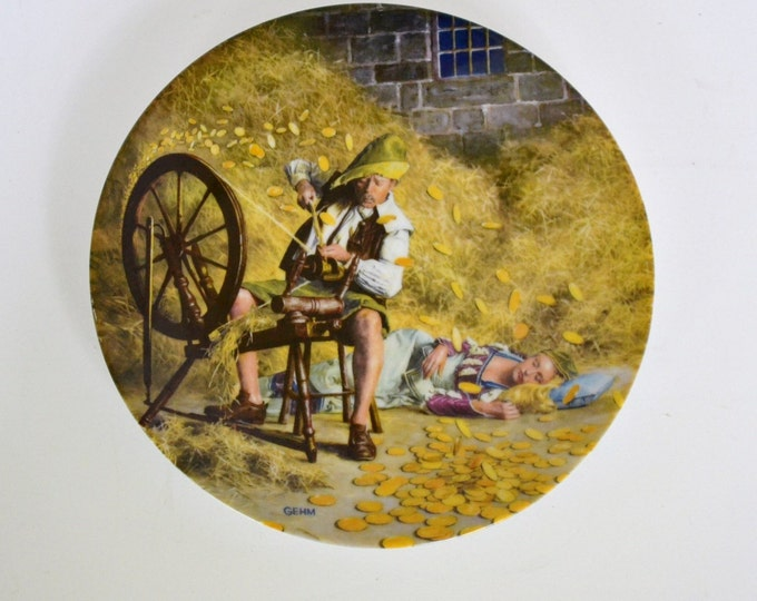 DEAL OF WEEK Vintage Grimms Fairy Tales Rumpelstilzchen Collector Plate Bradford Exchange PanchosPorch
