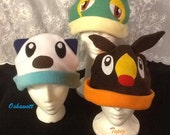 Unova/Kalos Starter Pokemon Fleece Hat(s)