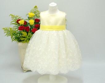 Baby Dress - Satin Tulle Dress - 1st Brithday Party - Flower Girl