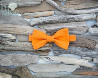 Child Orange Boys Bow Tie, Toddler Bow Tie, Newborn Baby Boy Bow Tie, Children's Bow Tie, Kids Bow Tie, Youth Bow Tie, Newborn Bow Tie