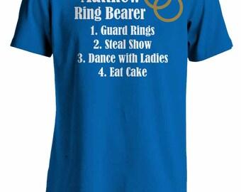 Personalized Ring Bearer T-Shirt
