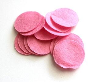 1.5 Inch Pearl Pink Felt Circles - Felt Backing, Craft Felts