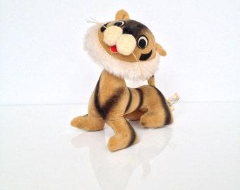 Vintage Tiger Stuffed Toy