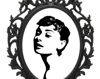 Audrey Hepburn Art Print -  * Frame included *