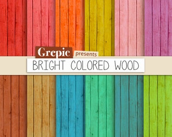 bright colored wood stains