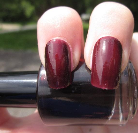 Crimson Nail Polish: Crimson Dark Red Nail Polish By PaintShopPolish On Etsy
