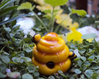 Fairy Garden Miniature Beehive Honey Bee Comb
