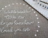 Twinkle Twinkle Little Star - Hand Embroidery Pattern - PDF