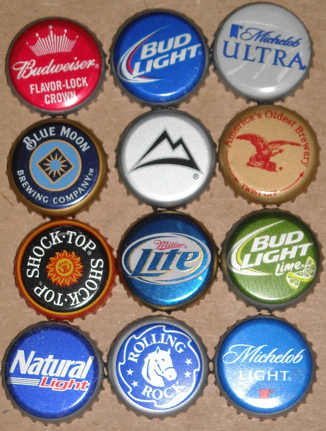 Slightly bent 100 happy hour beer bottle caps for your for What to make with beer bottle caps