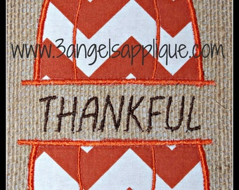 Split pumpkin applique design 2 sizes INSTANT DOWNLOAD