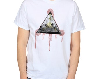 Storm Triangle Paint Drips White T-Shirt