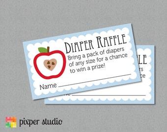 INSTANT DOWNLOAD - Diaper Raffle - Apple of My Eye - Baby Shower