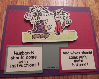 Husbands and Wives Hand Made Anniversary Card