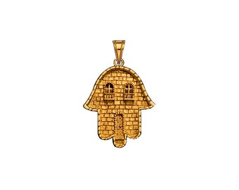 Hamsa Pendant with Jerusalem Design