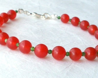 Holly berry gemstone bracelet