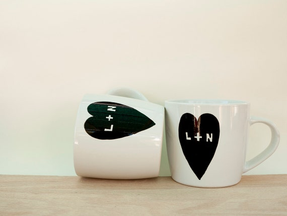 Custom couple mugs // personalized couple mugs // custom mugs // cute couple mugs