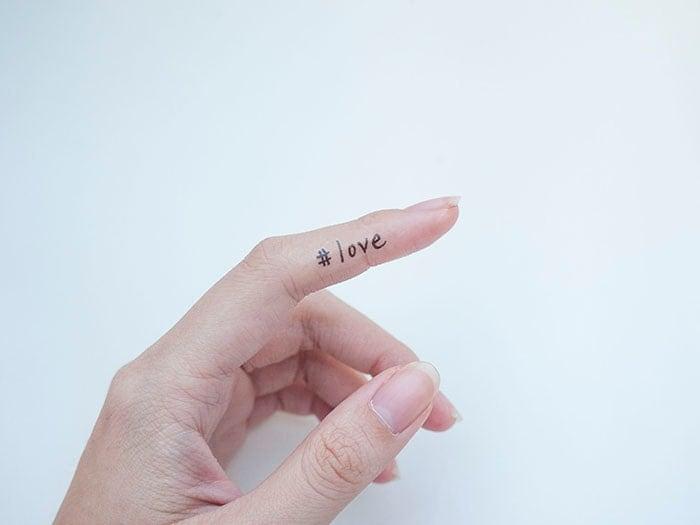 3pcs love temporary tattoo hashtag temporary tattoo