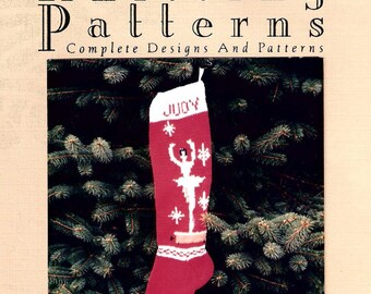 Christmas Stocking Pattern,  Music Box Ballerina