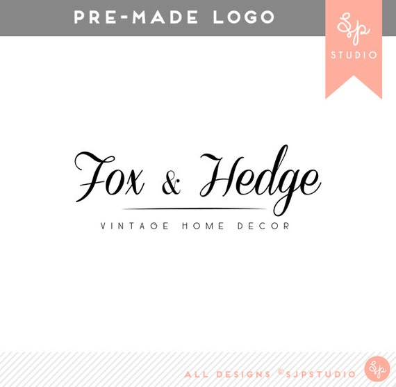 Pre-Made Logo Design 'Fox & Hedge' // Graphic Design // Business Branding