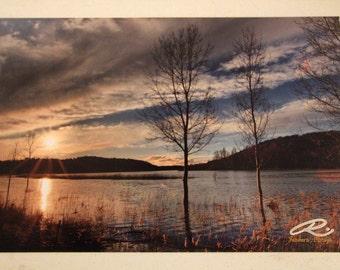 "Photo: Ruidera, España (18"" x 12"" print) (front signature)"