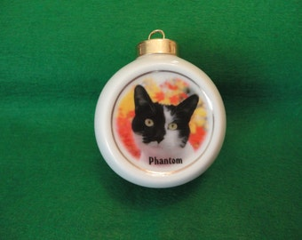 Custom Pet Ornament *YOUR PHOTO* Christmas, Holiday, Family, Friends, Memorial, Dog, Cat