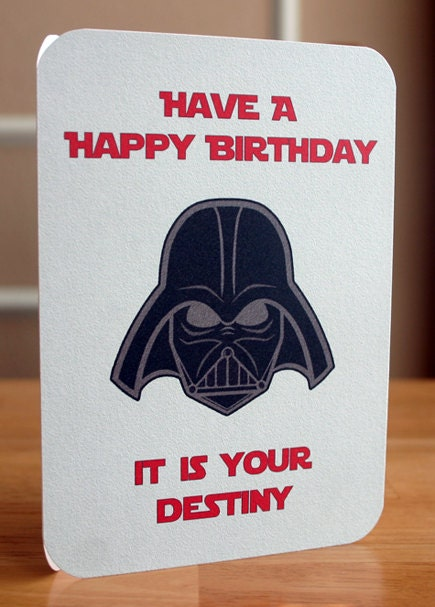 Crazy image within star wars printable birthday cards