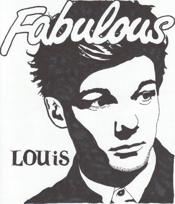 Items similar to Louis Tomlinson One Direction Pop Art ...