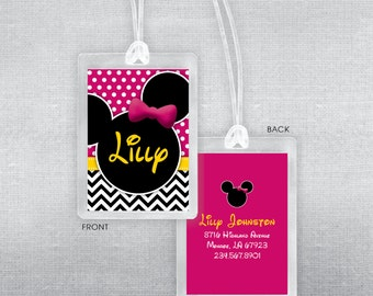 Disney luggage tag. Disney bag tag.