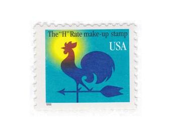 Qty of 10 - 1998 Unused Modern Postage Stamps - 1c Weather Vane - No. 3257