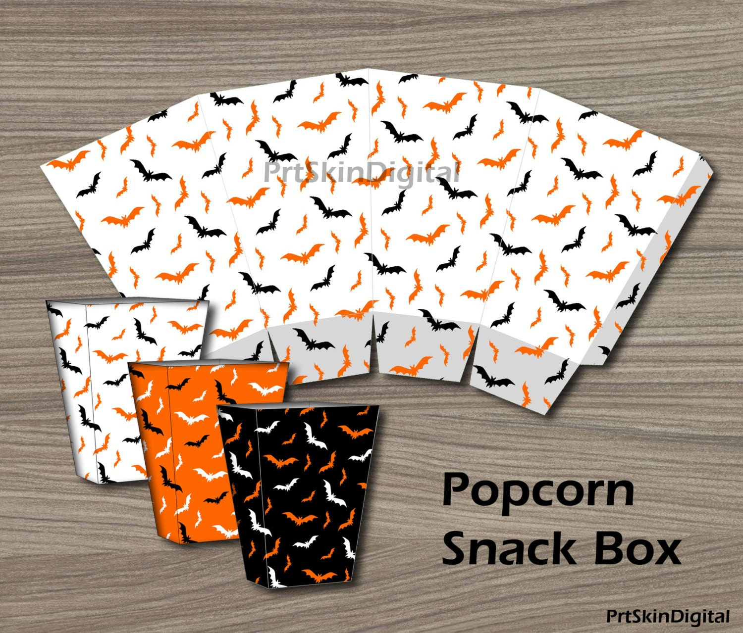 It's just a picture of Peaceful Printable Popcorn Box